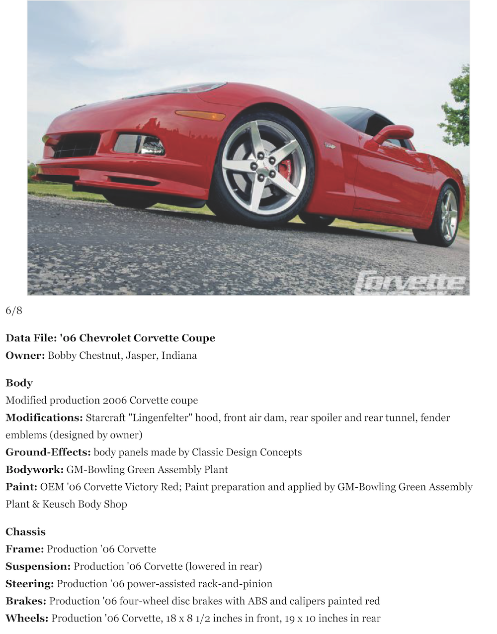 2006 Chevrolet Corvette - Subtly Customized LS2-Powered C6 Coupe - Corvette Fever Magazine - View Al_Page_6