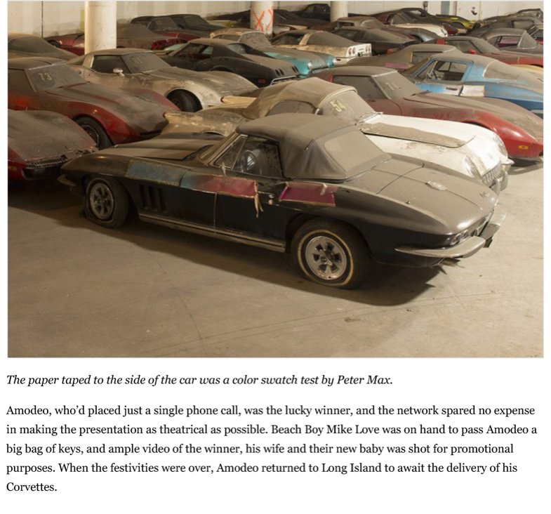 After a 25-year slumber, the VH1 - Peter Max Corvettes resurface | Hemmings Daily_Page_03