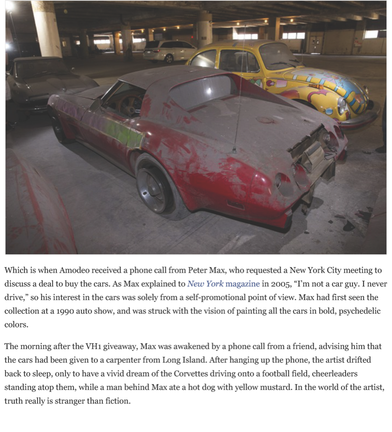 After a 25-year slumber, the VH1 - Peter Max Corvettes resurface | Hemmings Daily_Page_04