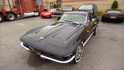 Tuxedo Black Stingray Corvette
